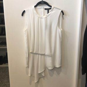 BCBG White sleeveless blouse, NWT